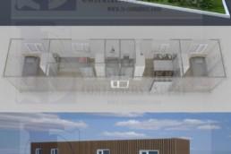 Container 40 pieds migrants