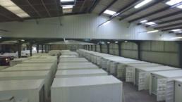 L'atelier et ses containers