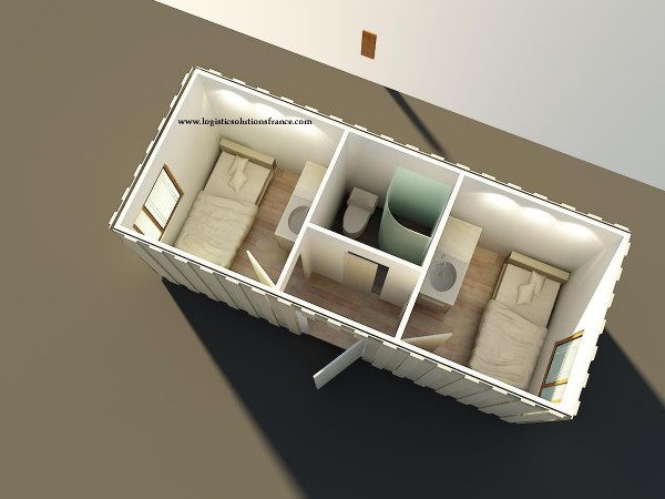 Containers am nag s sur mesure enti rement personnalisables for Plan amenagement container habitable