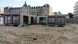 Le Polo Beach, restaurant de plage en cours de pose