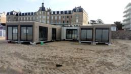 Le Polo Beach, restaurant de plage en cours de pose