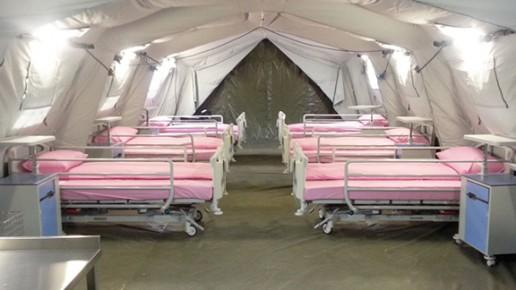Container médical, tente hôpital d'urgence