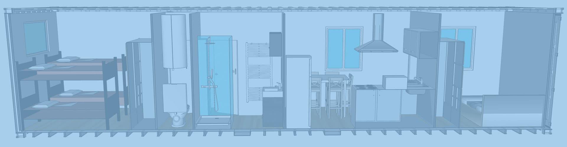 containers transform s en logements container studio container maison. Black Bedroom Furniture Sets. Home Design Ideas