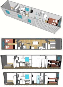logements famille 40 pieds