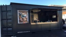Restobox restaurant de plage en container
