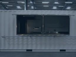 Cuisine mobile en container