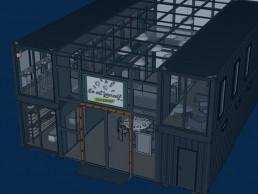 Surface commerciale et magasin en containers