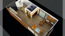 LS Container : double chambre villa en container